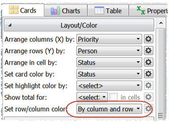 column and row colors