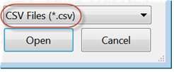 Open CSV file for pivot table