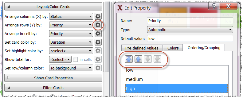 Edit property ordering