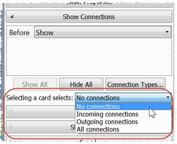 select connections option