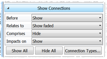 show/hide connections