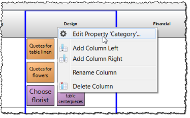column header menu
