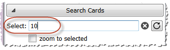 Search cards